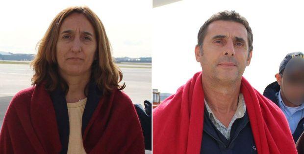 Los etarras Itziar Alberdi Uranga y Juan Jesús Narváez Goñi, alias 'Pajas'.